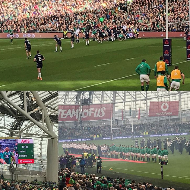 Ireland v Scotland rugby match victory
